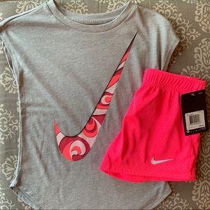 NWT Nike Short Sleeve Shirt & Short Outfit, Size 6